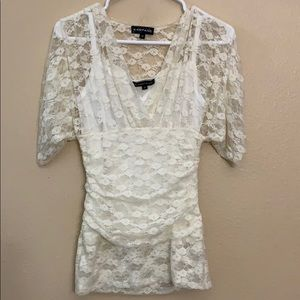 Rampage lace top and cami